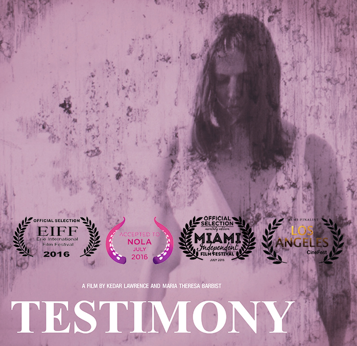Testimony poster with laurels facebook